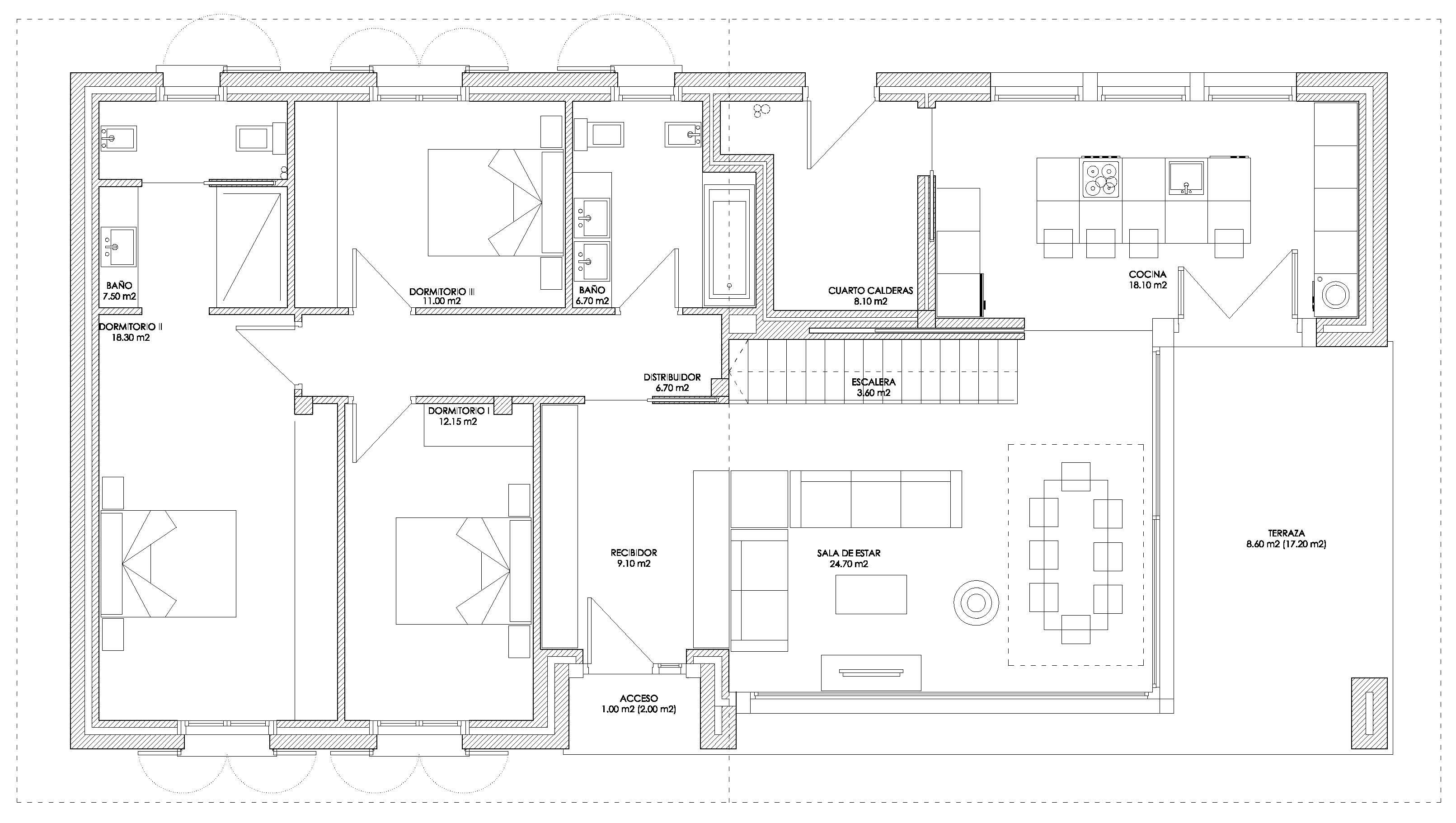 Linoplaza arquitectura vivienda unifamiliar en aniz for Planos de viviendas unifamiliares
